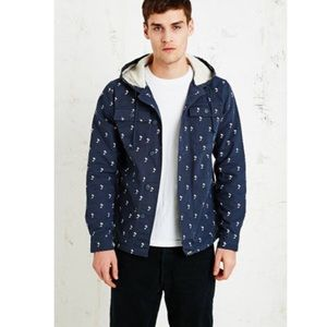 Vans UO Lismore Mens Jacket Palm Tree Blue M